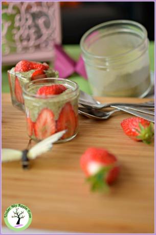 Pudding de chia matcha fraise