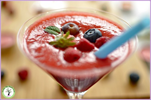 Smoothie fraise-cranberry
