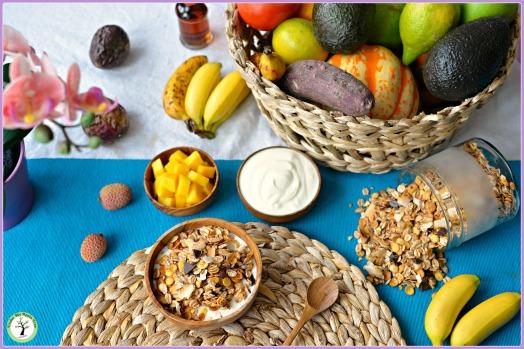 Muesli sans gluten au chocolat et à la noix de coco