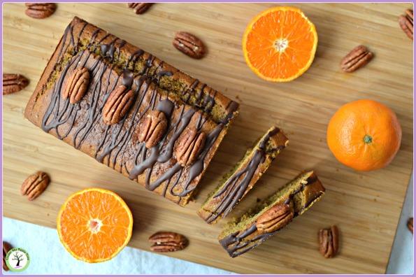 Cake vegan à la mandarine et à la banane