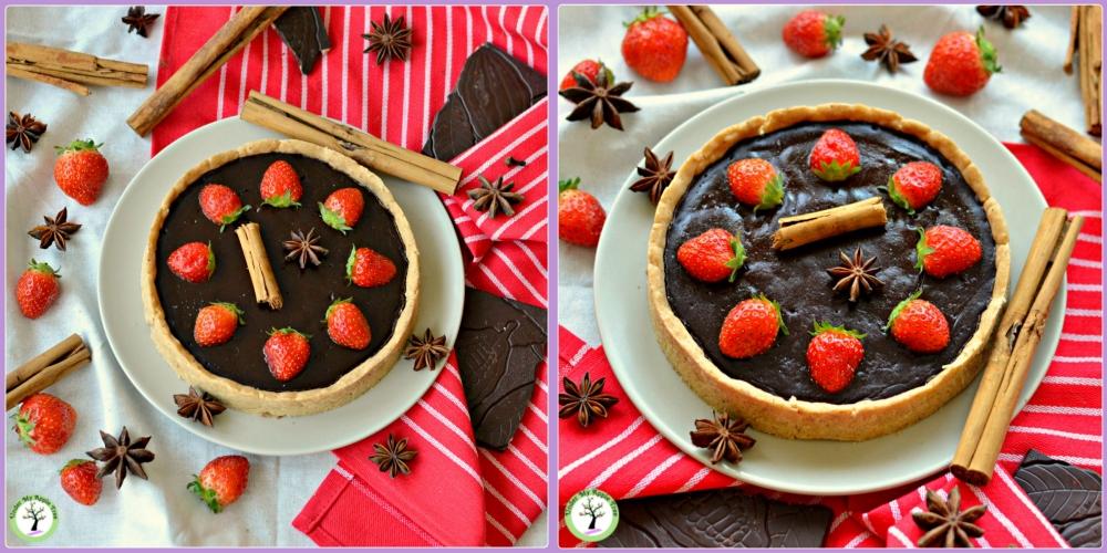 Tarte au chocolat, avec pâte à l'arôme spéculoos